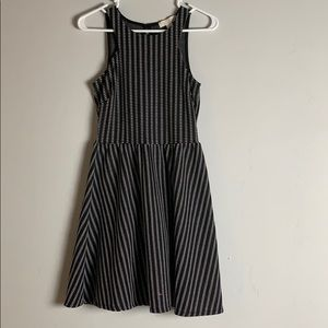 Black and white line tank dress